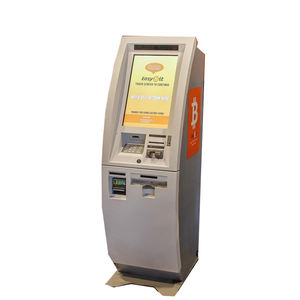 Floor standing note recycler barcode scanner Cryptocurrency kiosk with software 2 way Bitcoin ATM