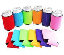 Multicolor Neoprene Blank Can Cooler Sleeves Collapsible Soft Drink Insulator Coolers