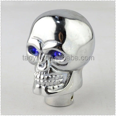 china manufacturer led light gear stick knob skull shift knob