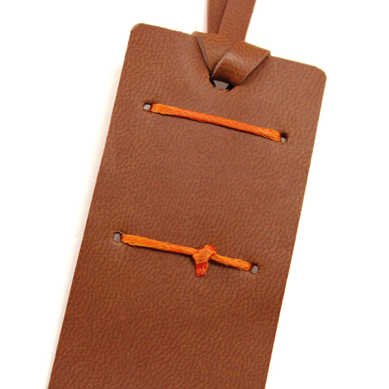 Perfect Gift PU Leather Brown Bookmark For Reader Writers