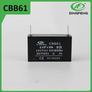 2 uf cbb61 wenling carcasa de plástico ventiladores utilizados condensador electrolítico 2 cables muestra gratuita disponible