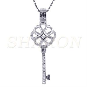 Bulk Wholesale Pearl Party S925 Sterling Silver Chinese Knot Pearl Cage Pendant