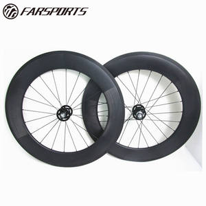 Farsports complete carbon bicycle wheels 88mm clincher rims, good performance carbon wheels 28inch for triathlon