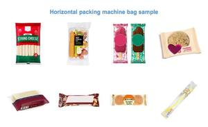 Horizontal biscuit cracker flow wrapping packaging machine manufacturers packing machine for chocolate cheese bread