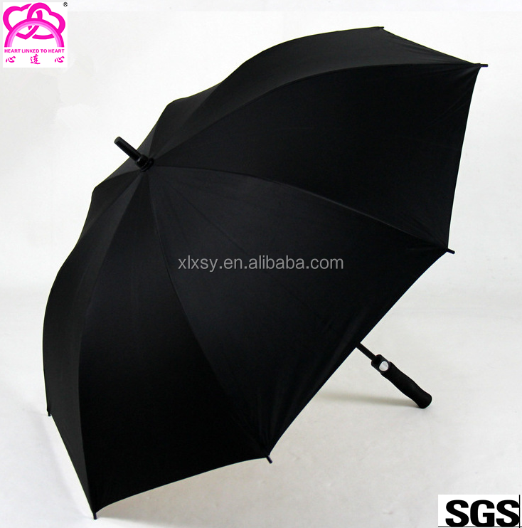 Straight Handle 8 Ribs Automatic Open Business Golf Umbrella with Logo Prints