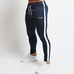 Custom Design Men Gym Joggers With White Stripe