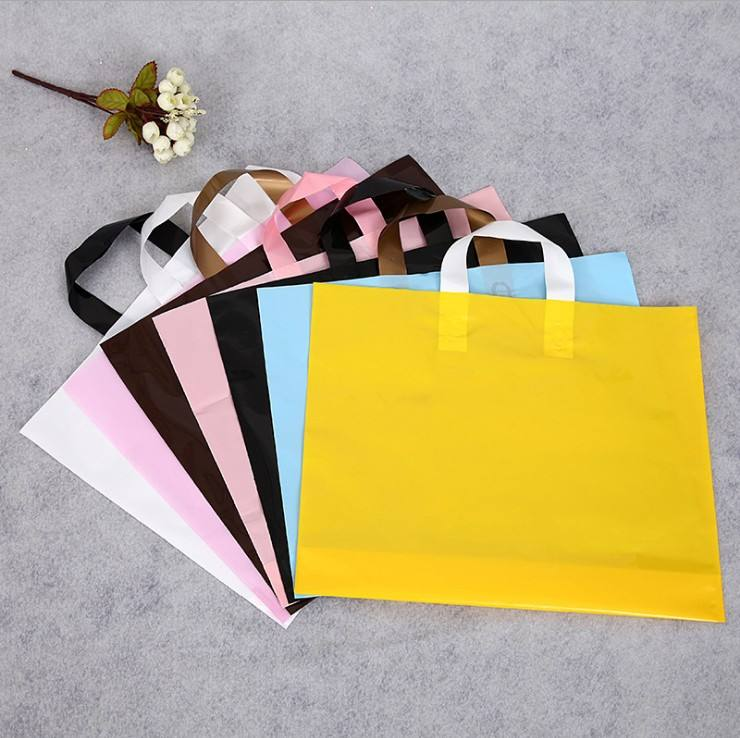 LDPE/PE Biodegradable Custom Plastic Shopping Bag Plastic Type and Handle