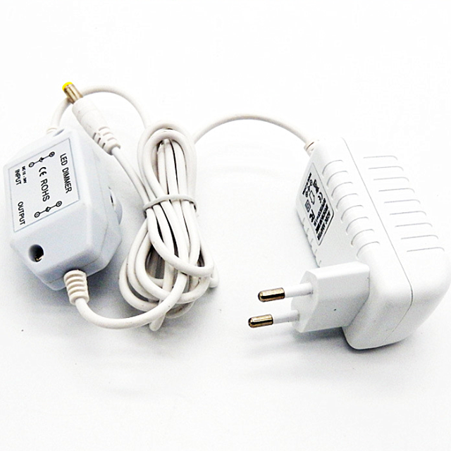 Switching ac dc adaptor 5V 1A 5V 2A 9v 1a 12v 1a power adapter With dimmer switch on the cable for christmas LED strip