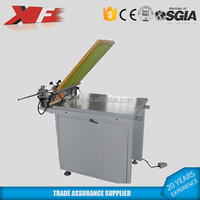 manual screen printing press table/one color screen printing machine