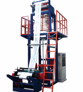 Kecil Printer Plastik Sekrup Tunggal Film Nilon Tas Blown Extruder Mesin Line untuk High Density Polyethylene