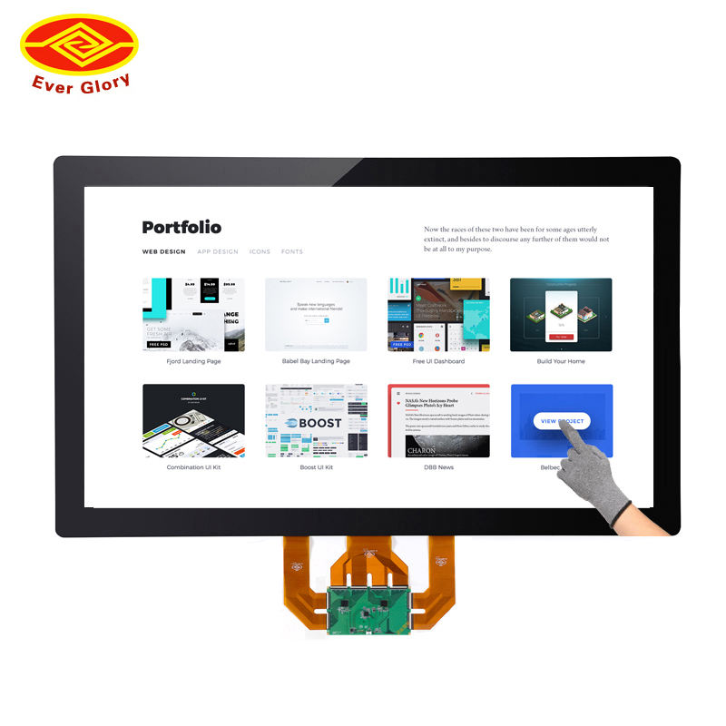 55 pollice overlay multi touch screen capacitivo per monitor touch