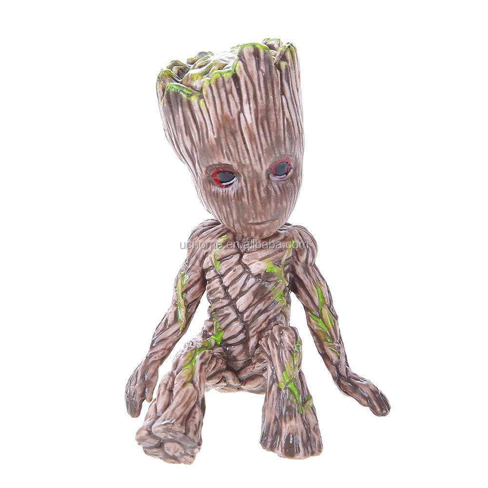 UCHOME PVC Action Figure Galaxy Sitting Tree Man Model Baby Toy Desktop Decor Gift