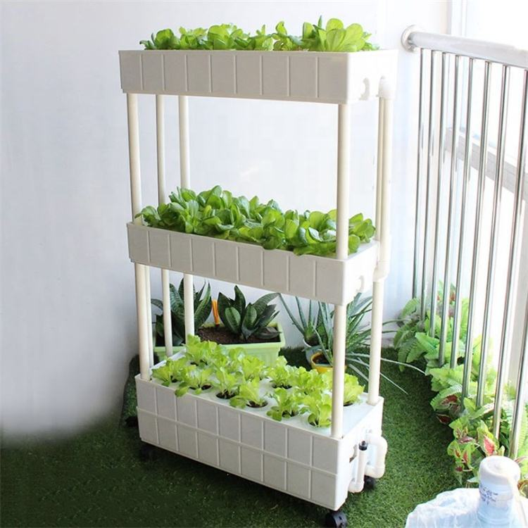 Indoor home used NFT hydroponic systems grow planter box