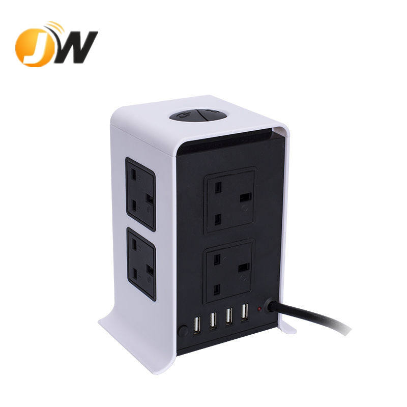 UK Uitbreiding Socket UK Socket in stekkers UK Socket 8 Outlets 4 USB