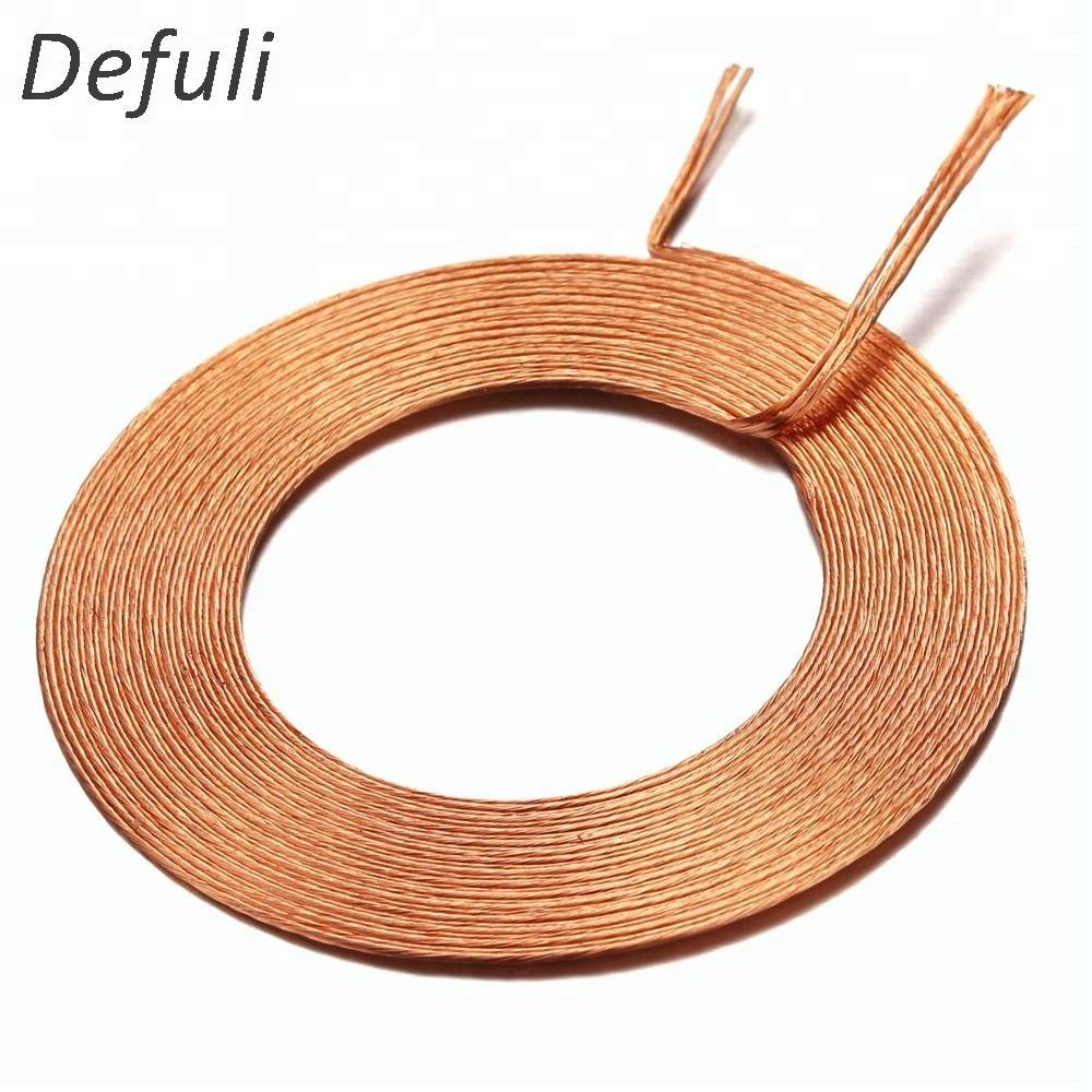 Custom various electrical flat copper air core coil 257uh litz wire coil
