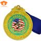 March expo high quality customized made usa national flag logos round metal medals