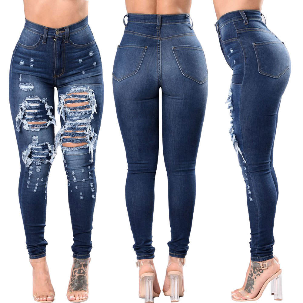 패션 새 핫 꽉 sexy stretch (high) 저 (rise 연필 홀 denim pant women's jeans