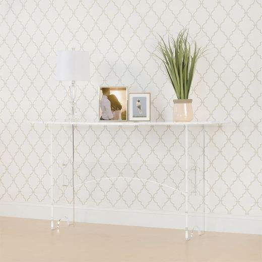 Plastic Bedroom Furniture Clear Acrylic Console Table