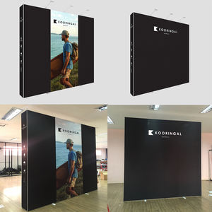 Aluminum straight trade show display pop up banner stand
