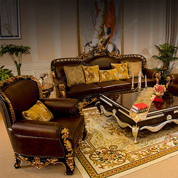 Luxury wood home furniture set import furniture from china