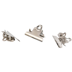 Promotionele 145mm Rvs Bindmiddel Clip Zilver Kleur Bulldog Clip School Briefpapier Brief Papier Ticket Office Clips