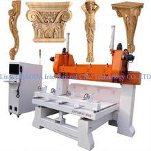 3D Corbel Pilaster Capital Column Antique Furniture Leg Lion Baluster Stair Wood CNC Router 5 Axis, CNC Wood Router 5 Axis