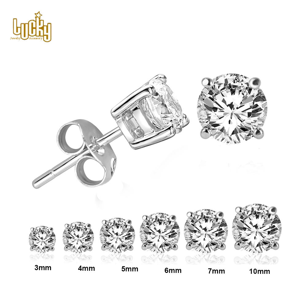 Simple gold earring designs for women, fashion earring jewelry supplier cz cubic zirconia stud earrings women