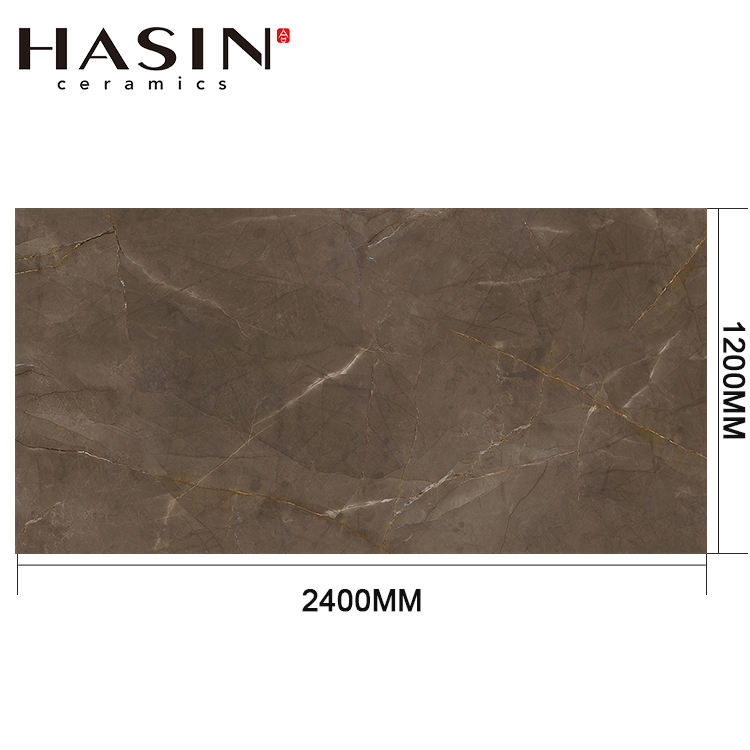 Chinese Tile High Quality Big Size Handmade Porcelain Glazed Brown Marble Floor Tile