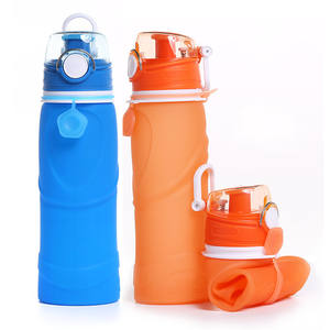 750ML Custom Eco-friendly Leakproof Collapsible Silicone Outdoor Sport Water Bottle