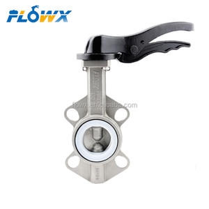 Manual Handle Lever Gear Operated DN50 PN16 10inch 8inch Price Resilient Seat Wafer Type Stainless Steel Butterfly Valve