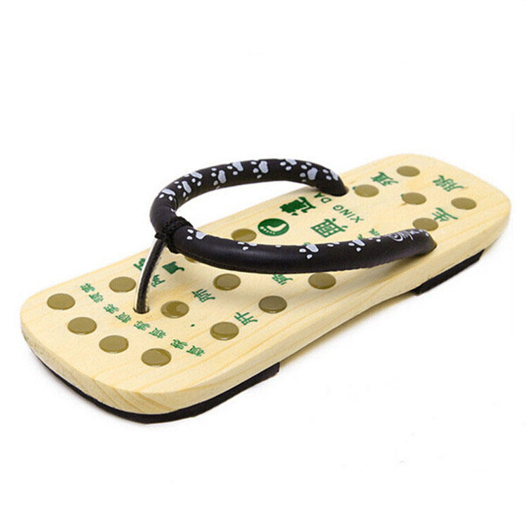 wooden japan foot slipper acupoint massager