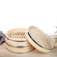 Wholesale durable stainless steel bamboo steamer basket for sale