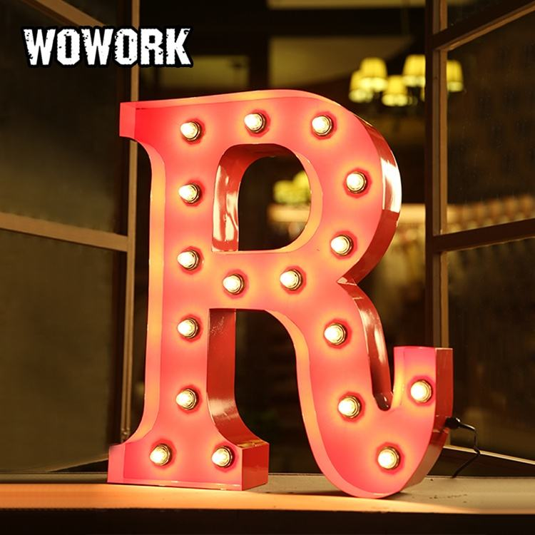 WOWORK Retail Windows alphabet for decoration long working life LED light hanging alphabet letters light