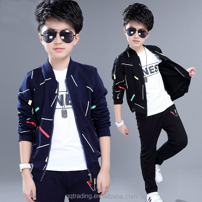 Wholesale fall student long sleeve sports cotton baby 3 set shopping websites for children boys
