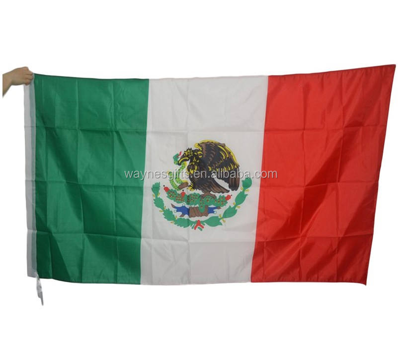 Stock Mexico 90*150cm polyester world cup flag