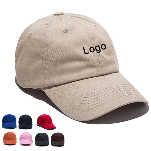 BSCI Custom Logo Men Cotton 6 Panel Embroidered Blank Plain Dad Hats Baseball Caps
