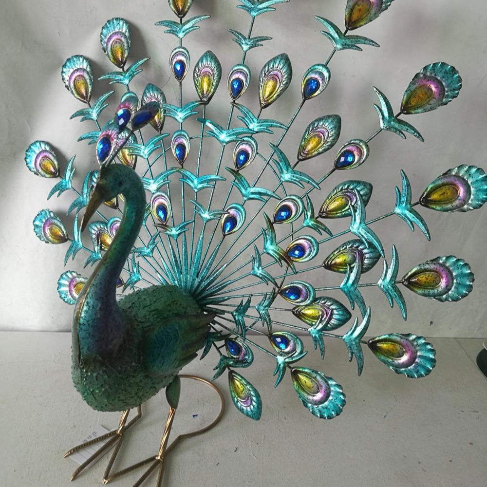metal peacock garden decoration peacock decoration bird