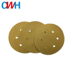 China Supply Silicon Carbide Material Yellow Round Sand Paper Machine