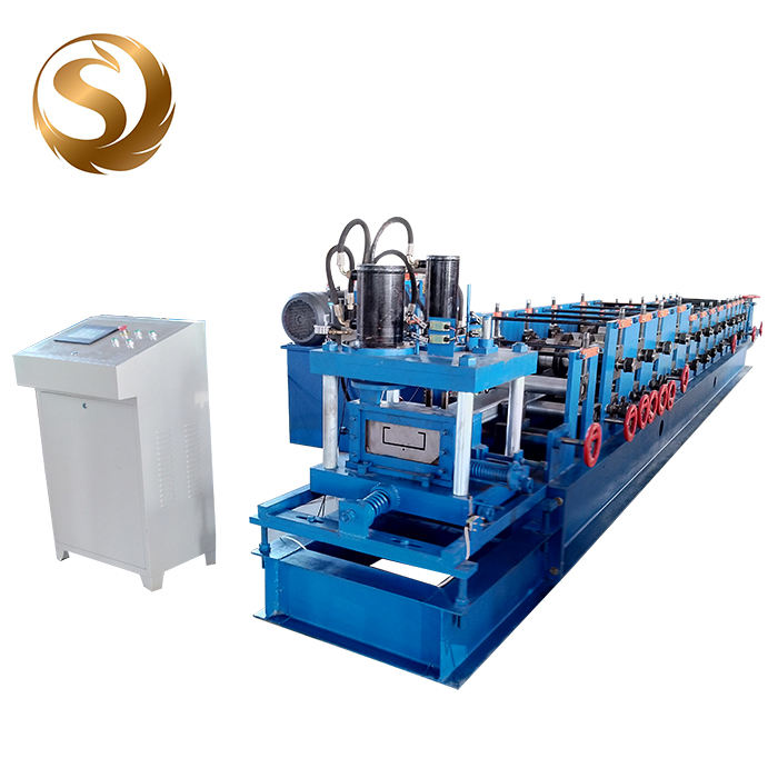Full automatic c z u section steel profile shaped light steel purline roll forming machine for sale