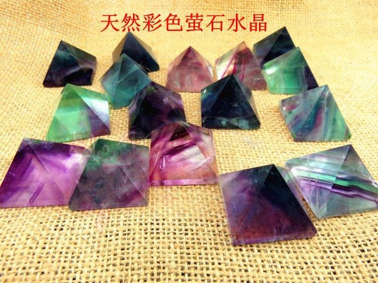 Natural AAA grade Colorful clear quartz crystal healing pyramid for sale