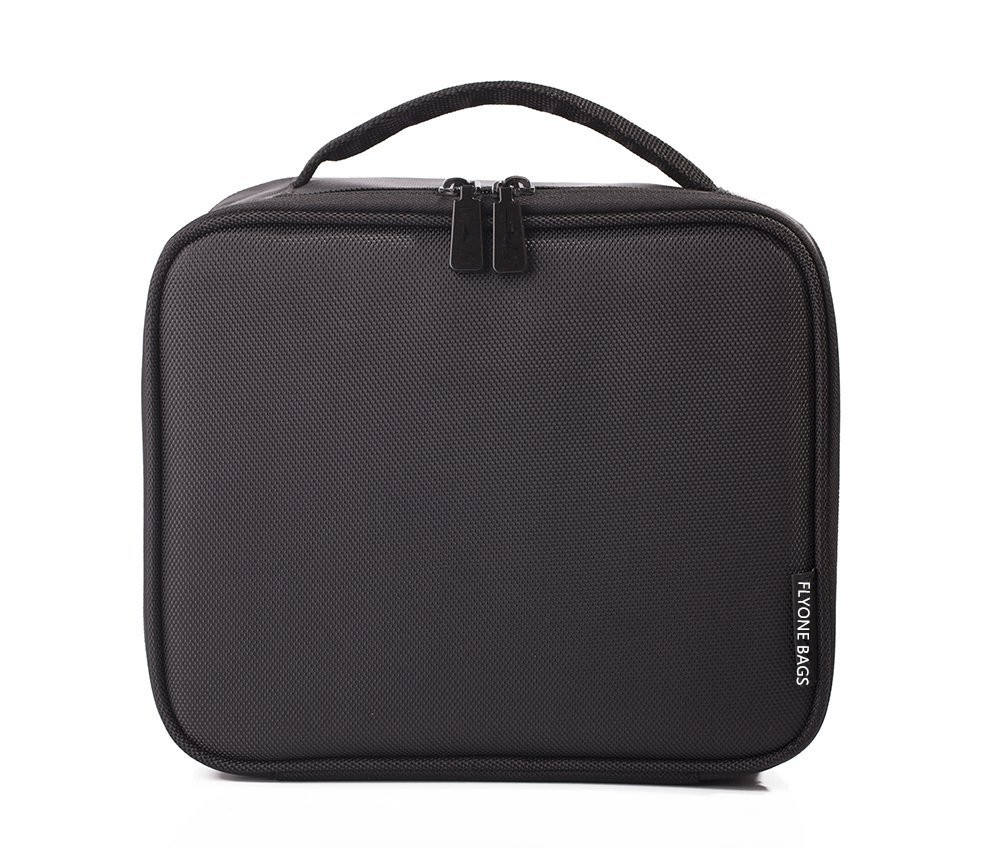 Wholesale custom black nylon ladies waterproof portable cosmetic travel makeup bag