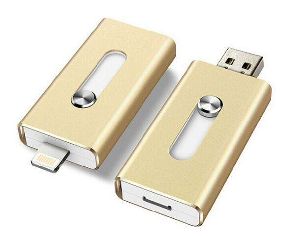 Ekinge Best price 3 in1 usb flash drive multi function USB stick otg memory stick for iphone with customer logo
