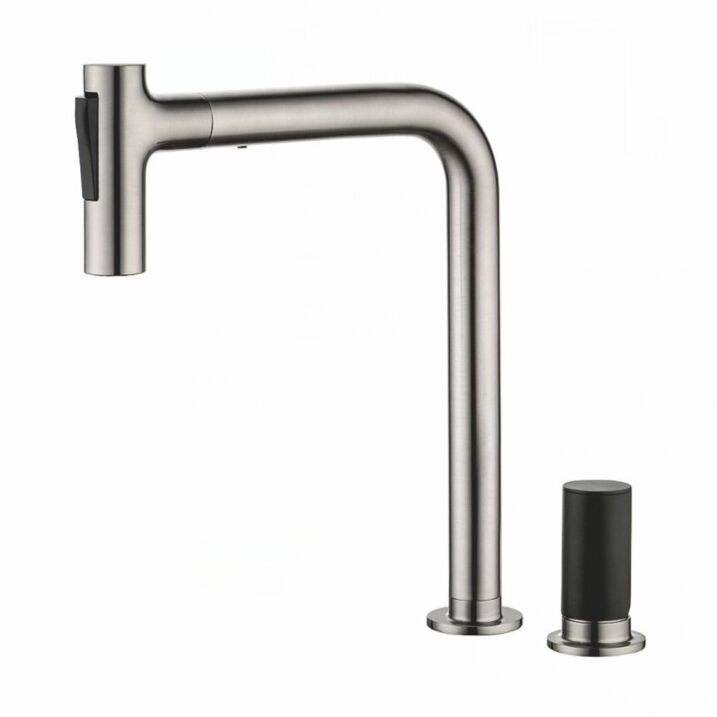 Pull Down Out Flexible Hose 3 Way Usa Water Filter &Tap 3 Way Pull-out Spout 2 holes Kitchen Sink Faucet