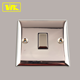 Brass Square Edge 20A 1 Gang UK Double Pole Electric Wall Switch Light Switch Plate