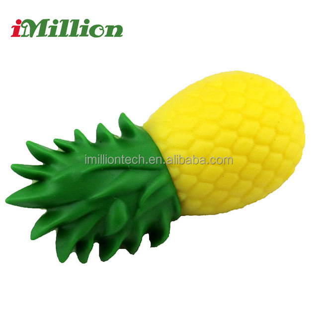 high quality 128mb -32gb unique design pineapple shape usb flash lighter