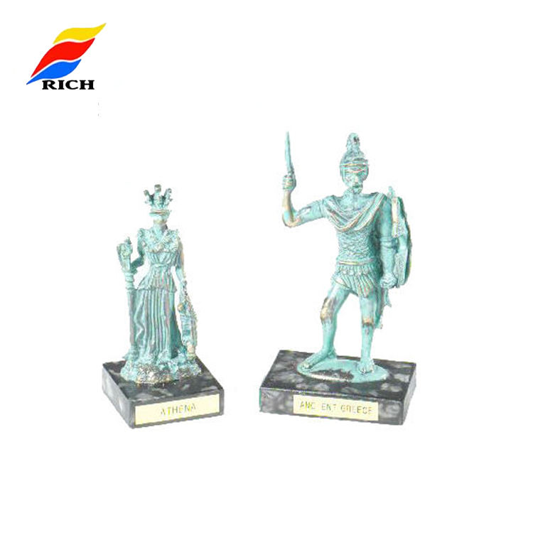 Custom Bronze Plated Greek soldier figurine Souvenirs