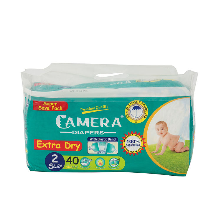New printed cute package non woven fabric soft breathable cheap diapers in bulk