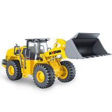 TongLi toy 1/50  Huina 1714 diecast model alloy truck car wheel loader professional engineering construction model vehicle
