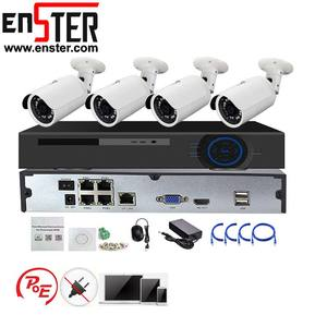 ENSTER Professionelle Full HD Outdoor 1080 P IP Kamera Sicherheit CCTV-System Mit 4ch POE NVR CCTV Kit