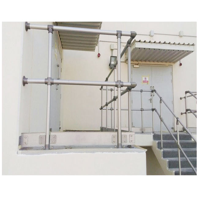 Hot Sale Safety Fence Non Welding Stair And Platform Aluminium Handrail